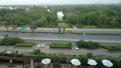 Road view from room